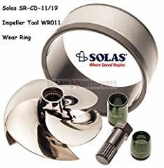 NEW SEA-DOO SOLAS IMPELLER W/ IMPELLER TOOL WEAR RING Includes New Solas Impeller, Impeller Tool Aftermarket Wear Ring11/19 Pitch for use on mostly stock enginesIncreases low end, acceleration and adds +1-2MPHMade from high strength corrosion...