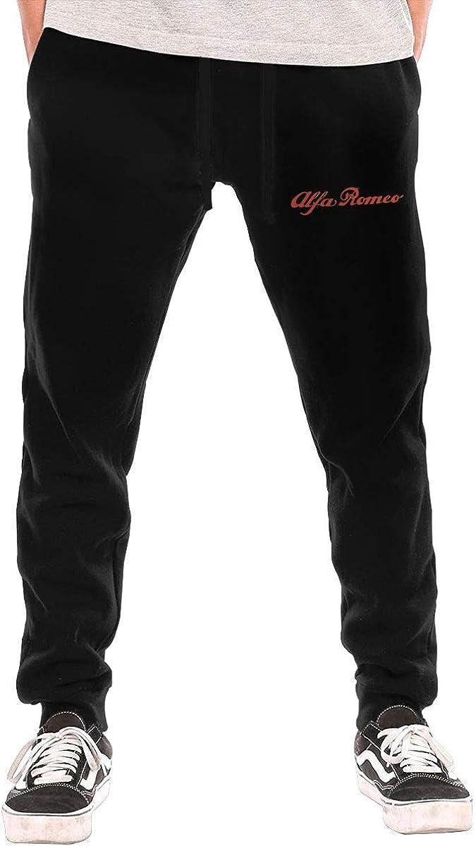 Men's Sweatpants Alfa Romeo Athletic Jogger Long Pants Black