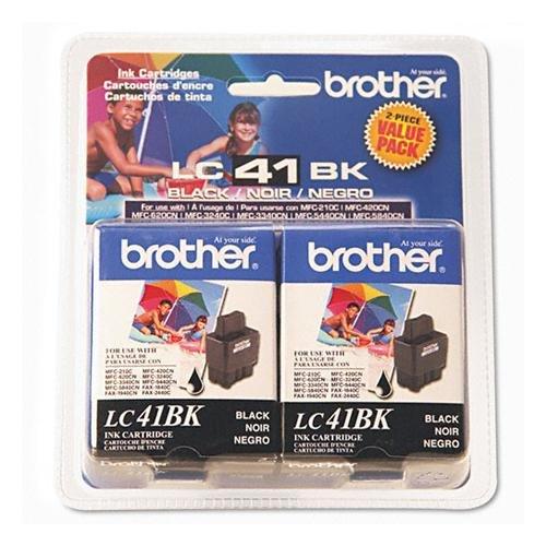 (NEW Brother OEM Ink LC41BK2PKS (BLACK) (1 Pack) (Inkjet Supplies) )