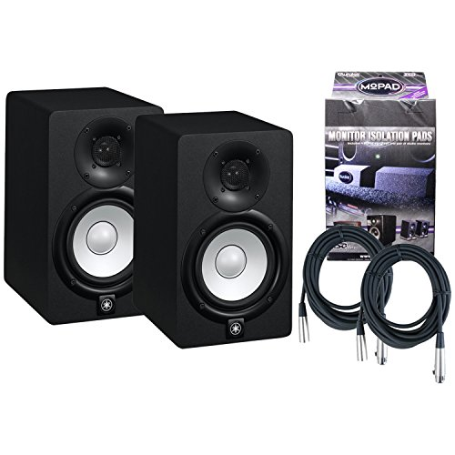 Pair of Yamaha HS5 70W Powered 2-way Studio Monitors w/ MoPads and Cables