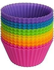 U Chef Moldes de Silicona Para Cupcakes. Set de Capacillos Reutilizables y Antiadherentes Para Hornear Muffins, Mantecadas y Panqués. (Incluye 12 piezas)
