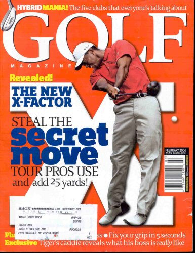 TIGER WOODS GOLF MAGAZINE FEBRUARY 2006 HYBRID MANIA!
