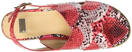 BATA 6615144, Sandalias para Mujer Rojo (Rosso)
