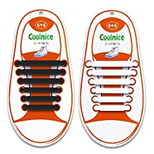 2 Pairs Homar No Tie Shoelaces for Kids and Adults - Best in Sports Fan Shoelaces – Waterproof Silicone Flat Elastic Athletic Running Shoe Laces with Multicolor for Sneaker Converse Running Shoes