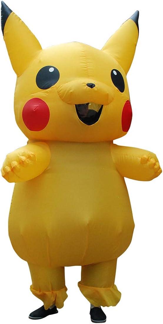 Zi Xi & Zi Qi Adulto Amarillo Pikachu Inflable Cosplay Halloween ...