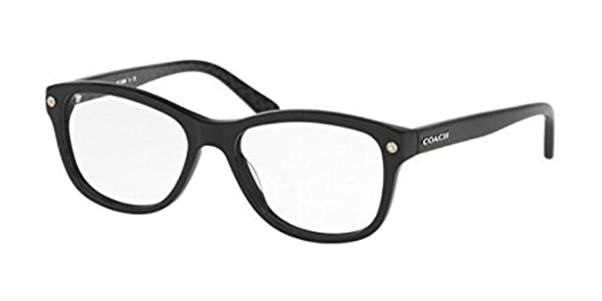 906faff2e67f6 Coach Women s HC6095 Eyeglasses Black Black Gunmetal Sig C 52mm at Amazon  Women s Clothing store