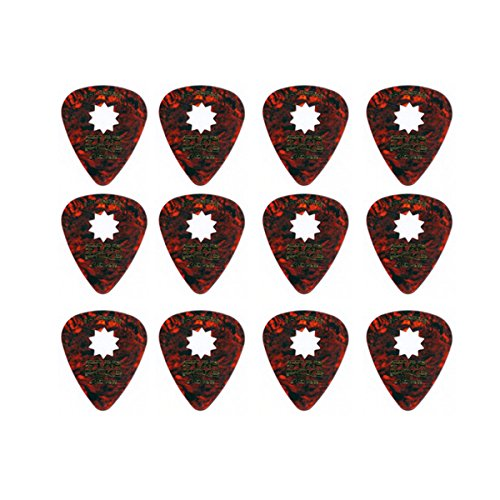 Everly Star Picks 351 Shape Celluloid Guitar Picks .46mm 12 Pack (Everly Star)