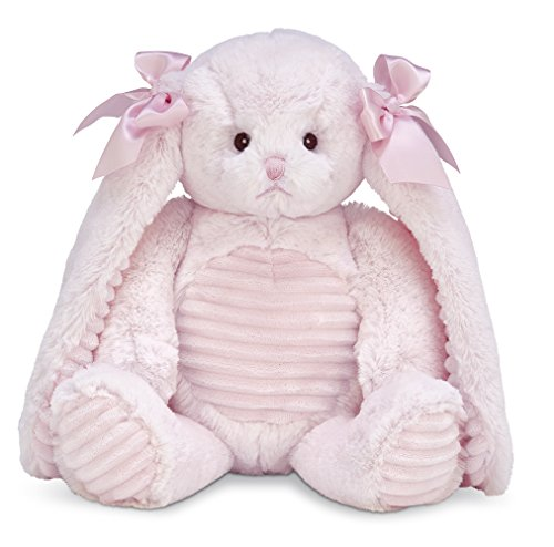 Bearington Baby Cottontail Hugs a Lot Plush Stuffed Animal Pink Bunny Rabbit 14