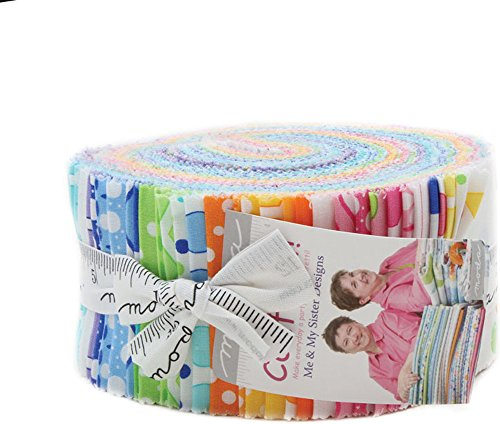 Confetti Jelly Roll 40 2.5-inch Strips by Me and My Sister Designs for Moda Fabrics 22320JR