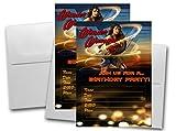 12 Wonder Woman Movie Birthday Invitation Cards (12 White Envelops Included) #1
