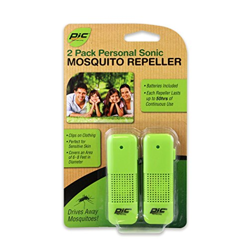 PIC PMR-2 Personal Sonic Mosquito Repeller, 2-Pack