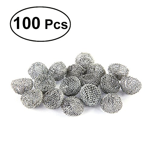 ROSENICE Stainless Steel Metal Tobacco Pipe Screens Smoking Pipe Filters 20mm 100pcs by ROSENICE