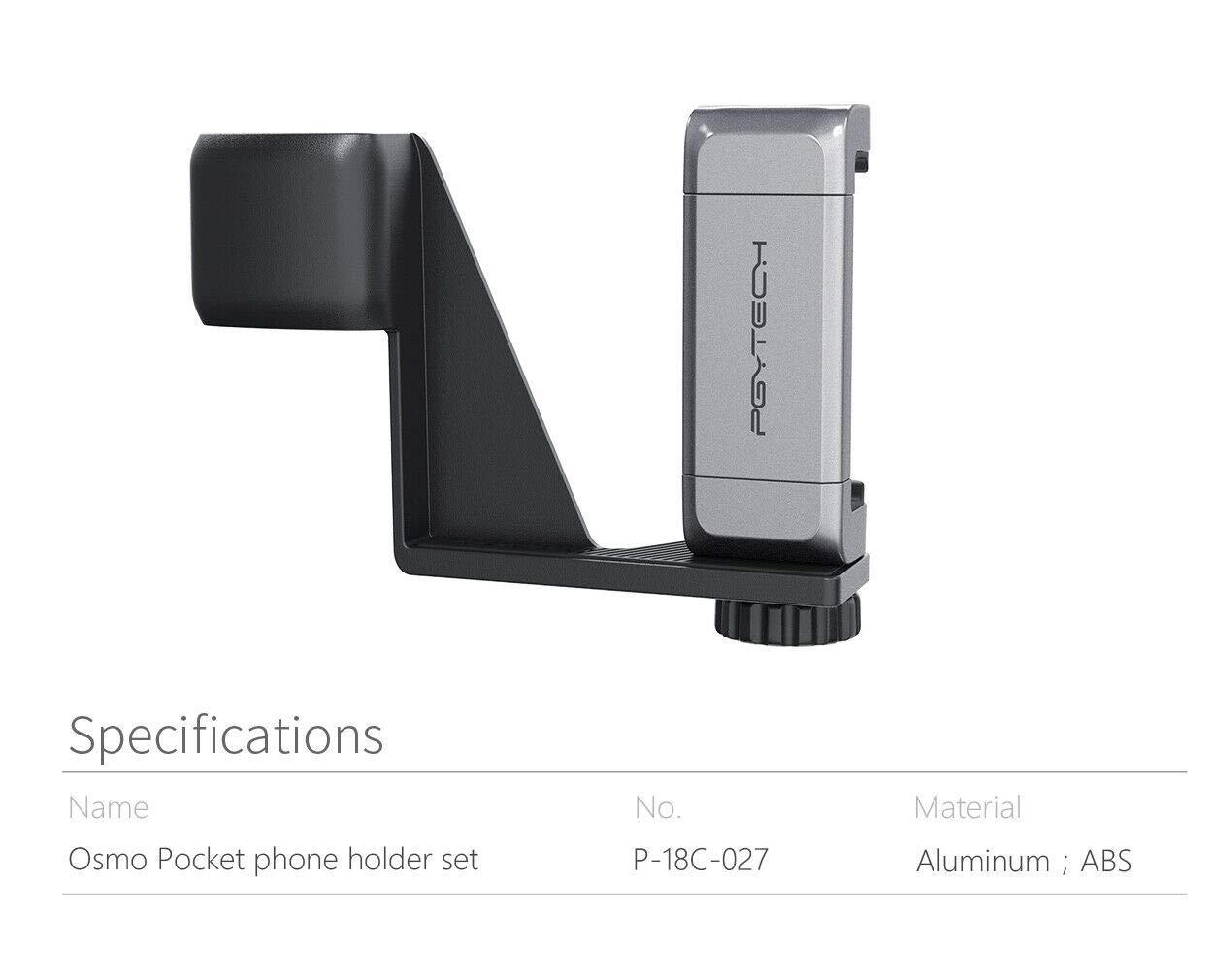 PGYTECH OSMO Pocket Phone Holder Set Smartphone Holder Mount Bracket Mobile Bracket for DJI Osmo Pocket
