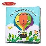 Melissa & Doug Soft Activity Book – The Wonderful World of Peekaboo, Developmental Toys, Easy to Read Text, 5 Animals, Machine Washable, 17.78 cm H x 25.4 cm W x 4.445 cm L