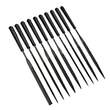 Refaxi Mini Files Set Metal Filing Rasp Needle File Steel Tools Hand Woodworking (5180mm 10PCS)