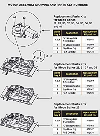 amazon com: lippert components 379769 kwikee step motor conversion  replacement