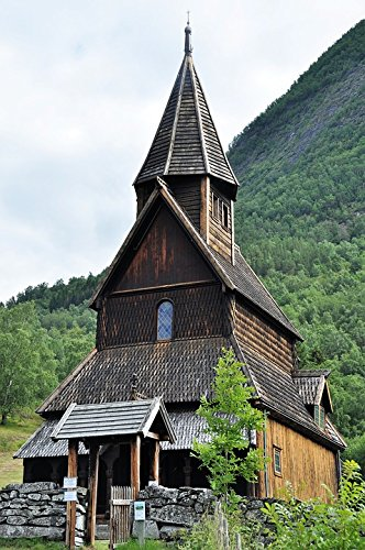 Home Comforts LAMINATED POSTER Stave Church Norway Places Of Interest Wooden Church Poster 24x16 Adhesive (Stave Place)