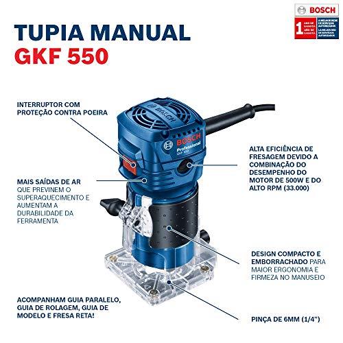 Tupia Bosch GKF 550 550W 220V com 2 Pinças