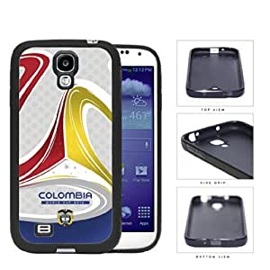 Colombia Brazuca Ball Print World Cup 2014 Soccer MLS Sports Red Blue and Yellow TPU Rubber Cell Phone Case Cover Samsung Galaxy S4 I9500