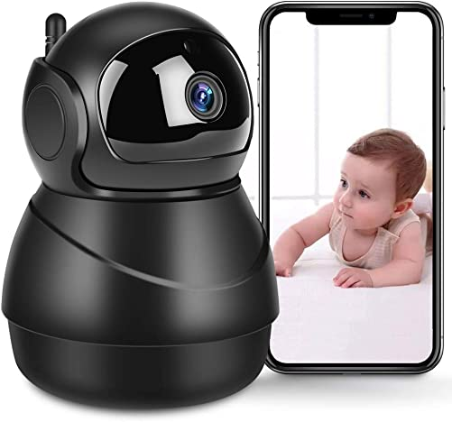 WiFi IP Camera 1080P Pet Camera Indoor Home Security Surveillance Camera System Baby Monitor with with Two-Way Audio, Night Vision, Motion Detection, Cloud Storage – iOS Andriod PC Available