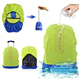 Waterproof Backpack Rain Cover with Stored Bag 30-40L,AYAMAYA Lightweight Packable Durable Hiking Backpack Daypack Cover Elastic Adjustable Raincover Water Resist Cover for Travel Backpack -Green
