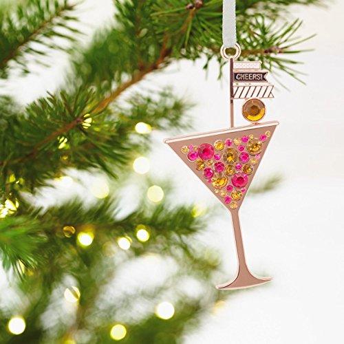 Hallmark Signature Martini Glass Happy Hour Metal Christmas Ornament