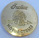 Brass Indian Motorcycle Biker Badge Pin