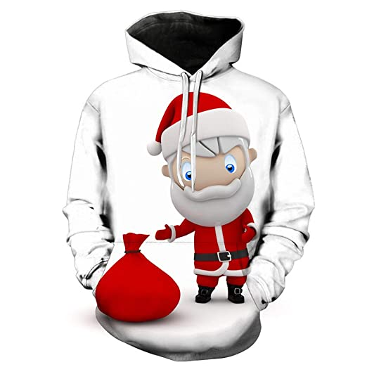 192915d898 Allywit Men Hoodies Autumn Winter Christmas Snowman 3D Printing Long Sleeve  Casual Sweatshirt Plus Size at Amazon Men's Clothing store: