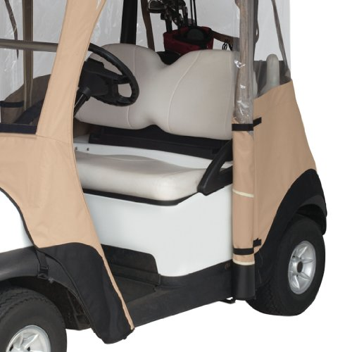 Classic Accessories Fairway Deluxe 4-Sided 2-Person Golf Cart Enclosure For Club Car, Tan by Fairway (Image #2)