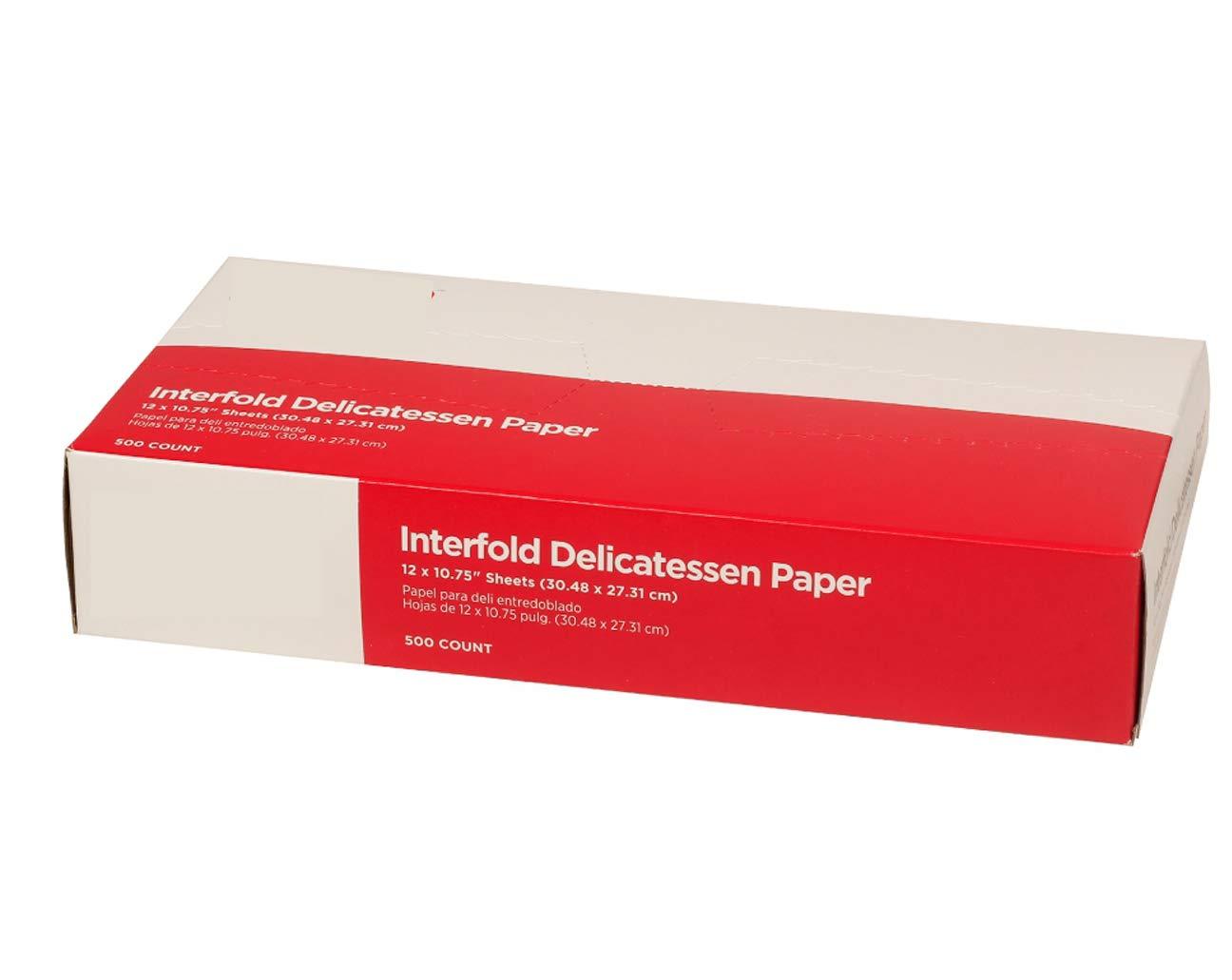 "Gordon choice DeliWaxPaper10-500 Deli Wax Paper, 10"" x 10.75"" (Pack of 500)"