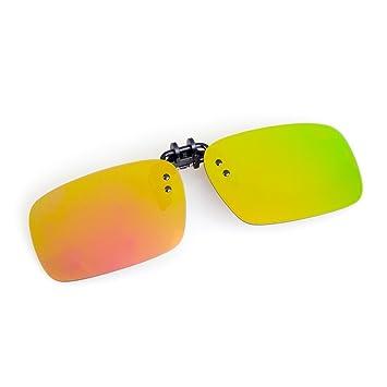 Cyxus [Vision nocturne] à clipser Verres polarisés antireflets Jaune lentilles de conduite/Pêche/Sport/Cyclisme/lecture Lunettes de soleil protection UV Ordinateur Lunettes ,Unisexe (Homme/Femme)