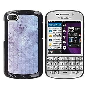 MOBMART Carcasa Funda Case Cover Armor Shell PARA BlackBerry Q10 - White Colored Cloud Pattern