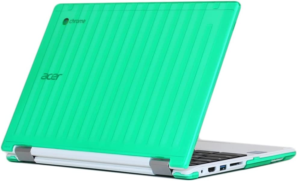 "iPearl mCover Hard Shell Case for 13.3"" Acer Chromebook R13 CB5-312T Series (NOT Compatible with Acer R11 and Other 11.6"" chromebooks) Convertible Laptop (Acer R13) (Green)"