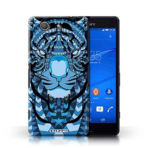 Kobalt® Imprimé Etui / Coque pour Sony Xperia Z3 Compact / Tigre-Bleu conception / Série Motif Animaux Aztec