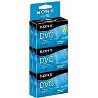 Ladrillo de videocasete digital premium DVM60PRR /6 de Sony - Paquete de 6