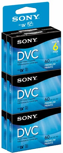 Sony DVM60PRR/6 Premium Digital Video Cassette Brick - 6 Pack (Cassette Digital)