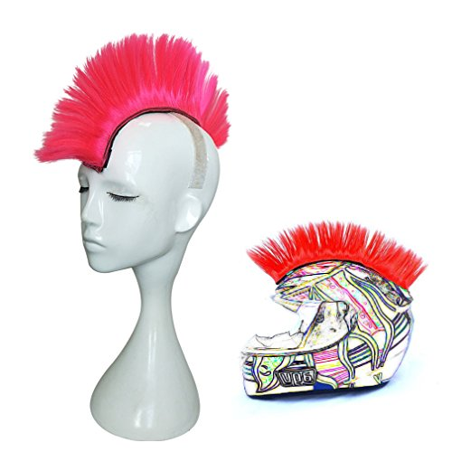 Price comparison product image Namecute Skinhead Pink Wig Punk Helmet Mohawk Wig Costumes Hairpiece