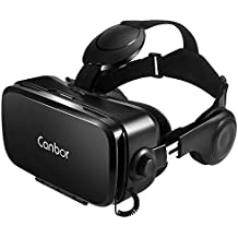 Canbor VR Headset, Virtual Reality Headset 3D VR Goggles Glasses with HD Stereo Headphones FOV 120for 4.7-6.2 Inches Apple iPhone, Samsung HTC More Smartphones