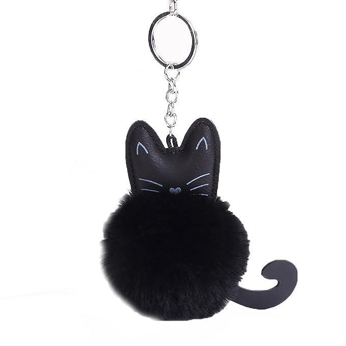 Amazon.com: baobao Cute Gato Sintética Suave Bola Pompón ...