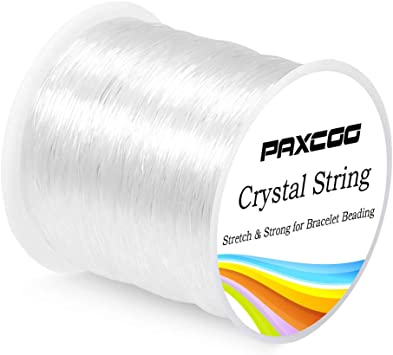 Amazon Com Paxcoo 0 8mm Elastic String Stretchy Bracelet String