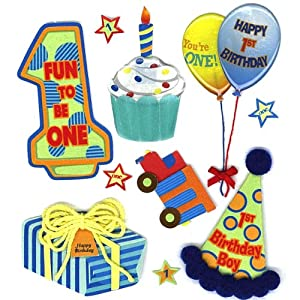 Amazon.com: Jolee's Boutique Boy's 1st Birthday Stickers