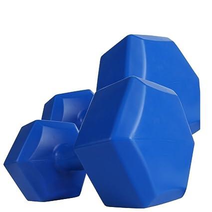 Plástico mancuernas hexagonal 2 x 4 kg para flexiones – Mancuernas hexagonales