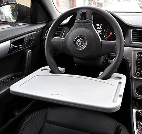kkone Soporte de mesa para coche, portátil, para coche, SUV, camión, escritorio, viaje, color gris: Amazon.es: Coche y moto