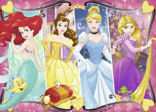 Ravensburger - Disney Princess Heartsong 60 Piece Glitter Jigsaw Puzzle for Kids - Every Piece is Unique, Pieces Fit Together Perfectly