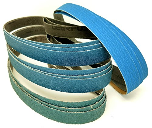 1 in. X 30 in. Premium Knife Maker's Coarse Grit Grinding Sanding Belts 36, 60, 80, 120 Grit Grinding Sanding Sharpening Belts 12 Pack Assortment Coarse Zirconia & Ceramic by Pro Sharpening Supplies