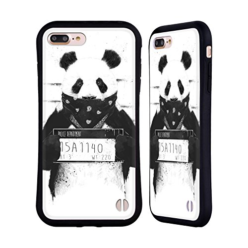 Official Balázs Solti Bad Panda Animals Hybrid Case for iPhone 7 Plus/iPhone 8 Plus from Head Case Designs