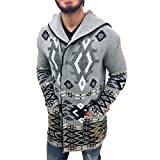 Cotton/Acrylic, Zip Cardigan Mens Sweater