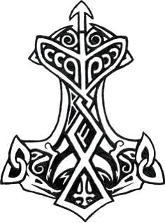 Amazon com: Viking Odin Symbol Valknut Unicursal 3x4