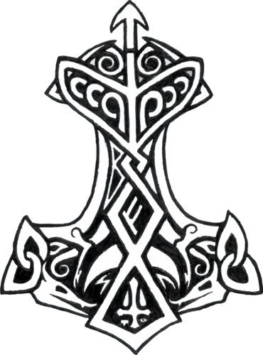 WickedGoodz Thors Hammer Refrigerator - Viking Bumper Magnet - Perfect Scandinavian Norse Rune Gift