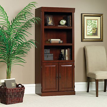 Heritage Hill Five Shelf Bookcase with Doors - 71'' H(Classic Cherry) by OFF1